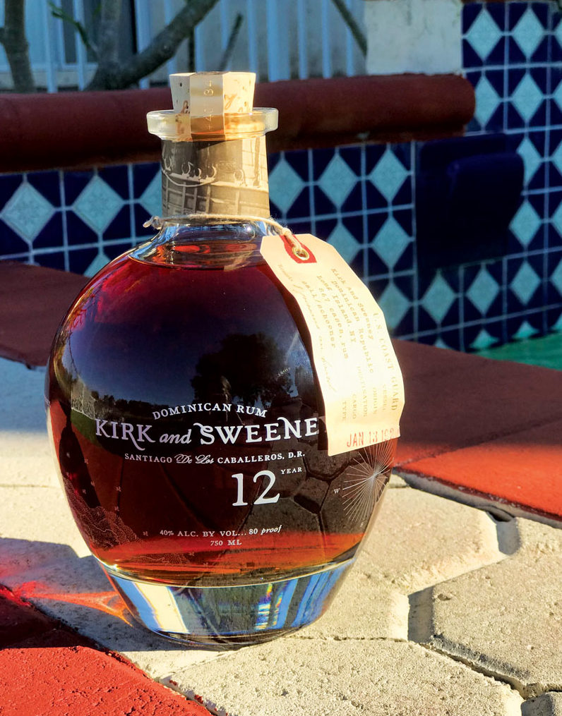 bottle of Kirk and Sweeney 12 year old rum