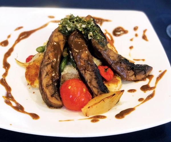 Leah Wheeler's Lunch Entrée of Portobello 'Steak.'