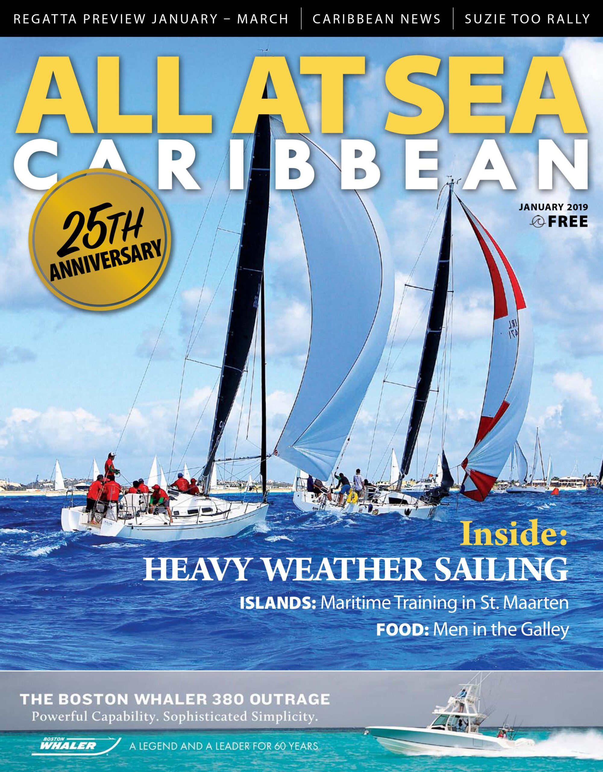 All At Sea - The Caribbean's Waterfront Magazine - January 2019