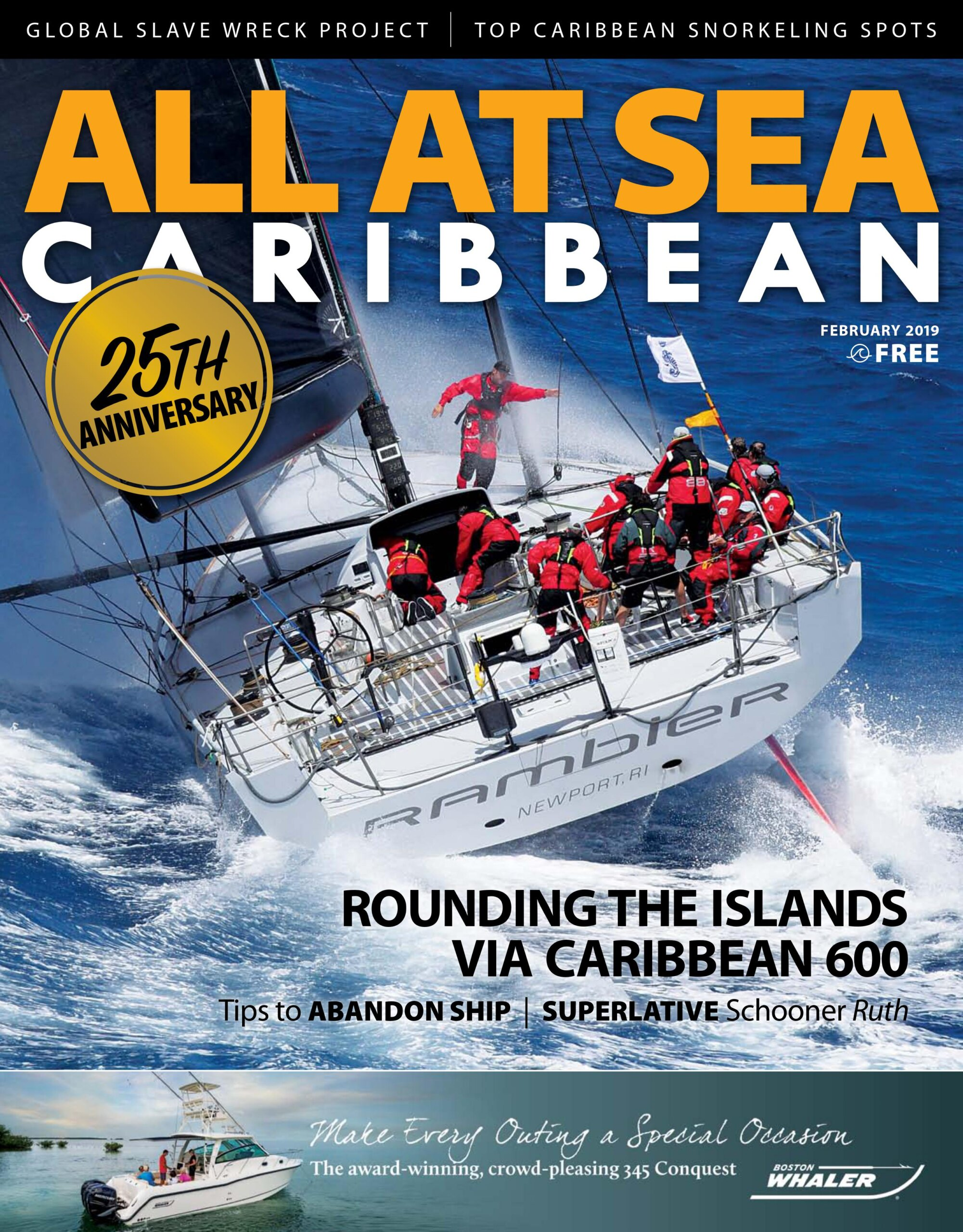 All At Sea - The Caribbean's Waterfront Magazine - February 2019
