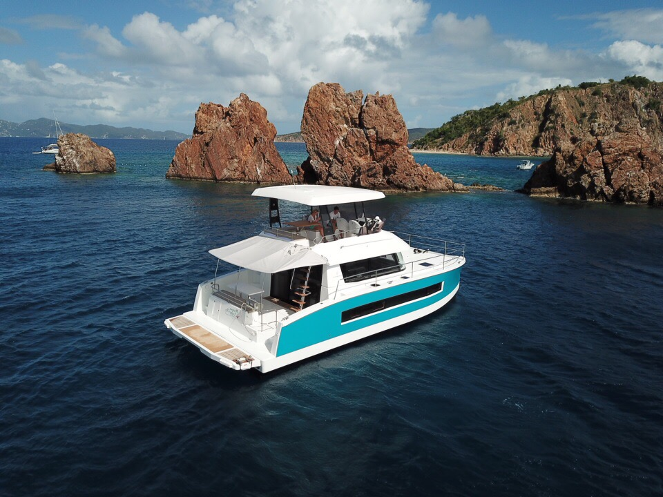 Families and couples looking to cruise the British Virgin Islands in comfort and style can do so aboard the Fountaine Pajot MY37