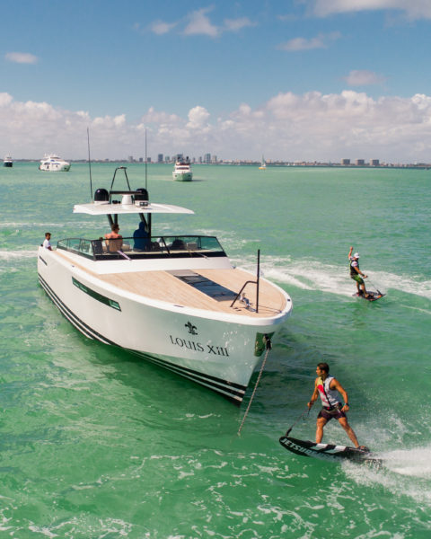 """You don't need any waves, but you surf. There is a board with a built-in engine under your feet, controlled only by tilting your body and gas trigger in your hand,"""" explains Ondrej Prikryl, marketing manager at JetSurf USA in Miami"""