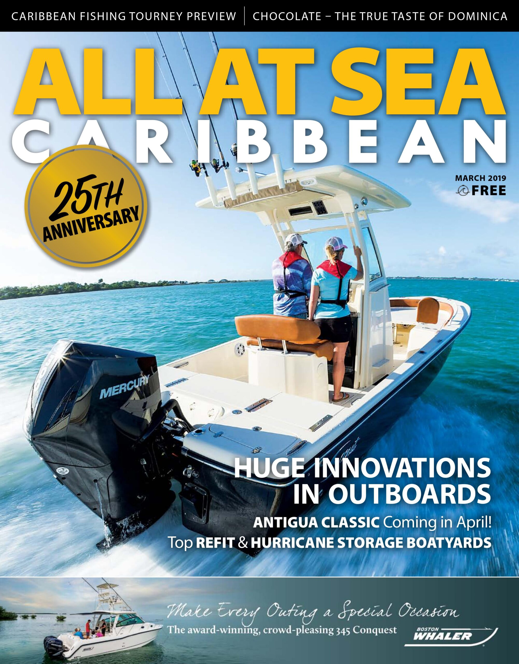 All At Sea - The Caribbean's Waterfront Magazine - March 2019