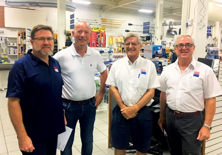 The core investor group of Budget Marine with left to right Christopher Skinner, Anthony Block, Robbie Ferron and John Skinner