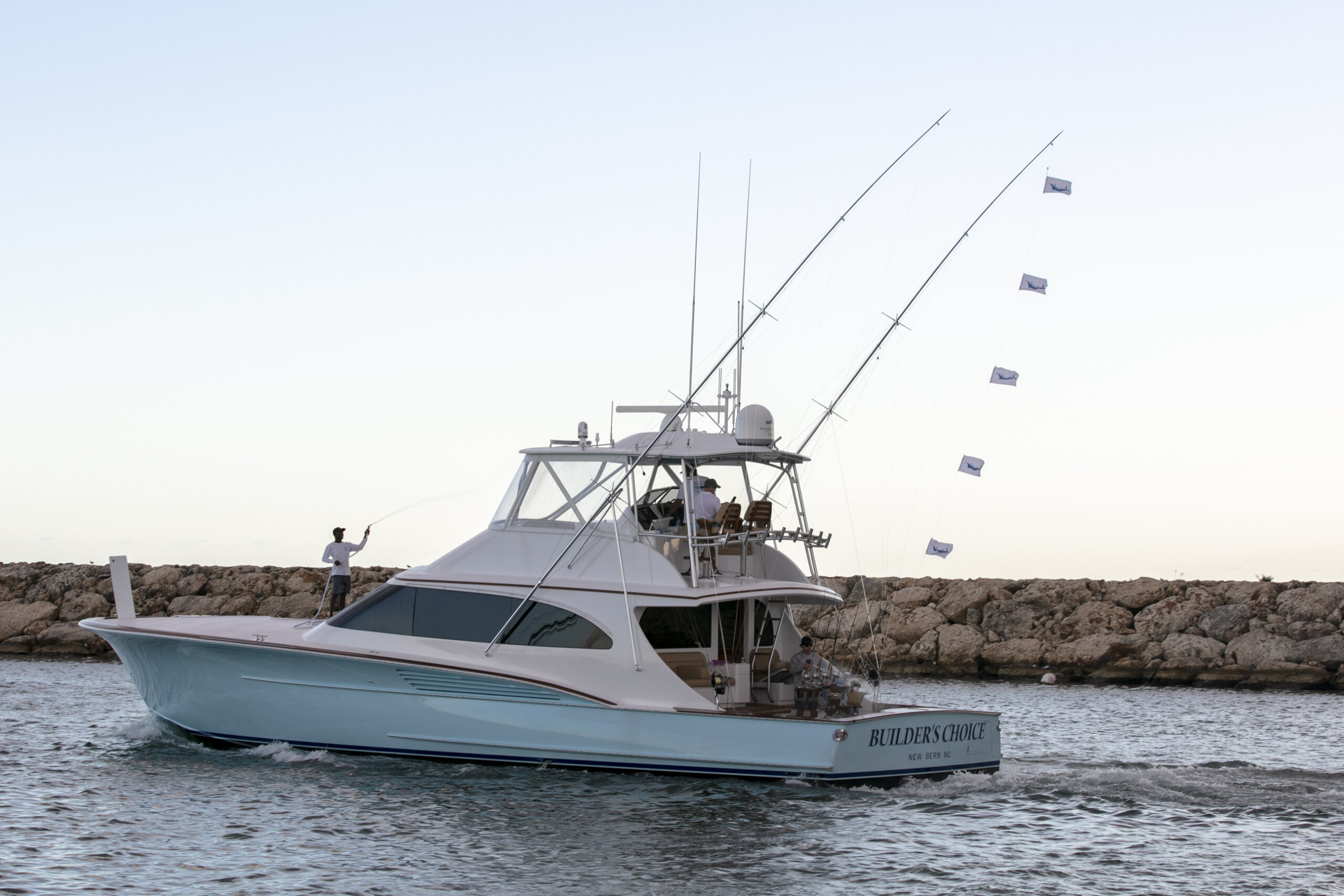 Builder's Choice, a 64 Jarrett Bay based in New Bern, took top honors at the third annual Marina Casa de Campo Open last week