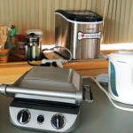 Countertop Cooker shown with extension cord in use
