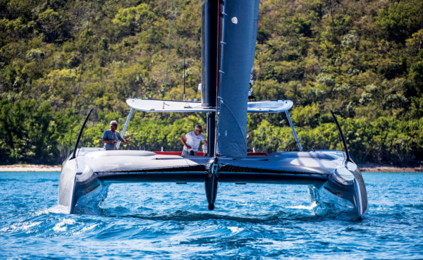 The world's most revolutionary catamaran set sail in February off St. Thomas, U.S. Virgin Islands. This is when the Eagle Class 53 was launched by Tommy Gonzalez, president of Bristol, Rhode Island-based Fast Forward Composites