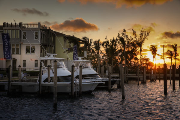 Marlin Bay Yacht Club is magical at Sunset