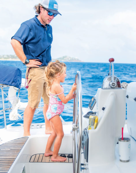 Chartering a Yacht creates memories across generations. Image Courtesy of Charter Caribe