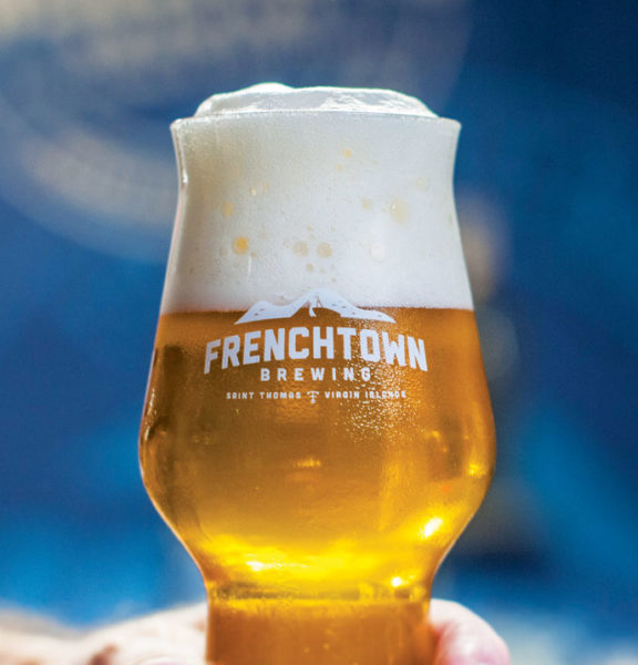 One of the Top Caribbean Craft Beers. A glass of Frenchie Farmhouse Saison