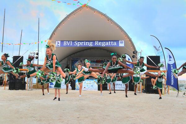 Cedar International School Cheerleaders display at the welcome party for sailors © www.ingridabery.com