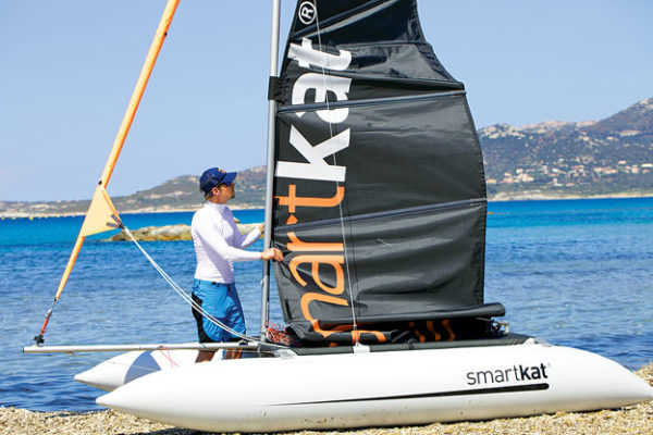 Combine the social aspects of sailing with the thrill of kitesurfing? The SmartKat. Mobile, inflatable performance catamarans offer the best of both worlds