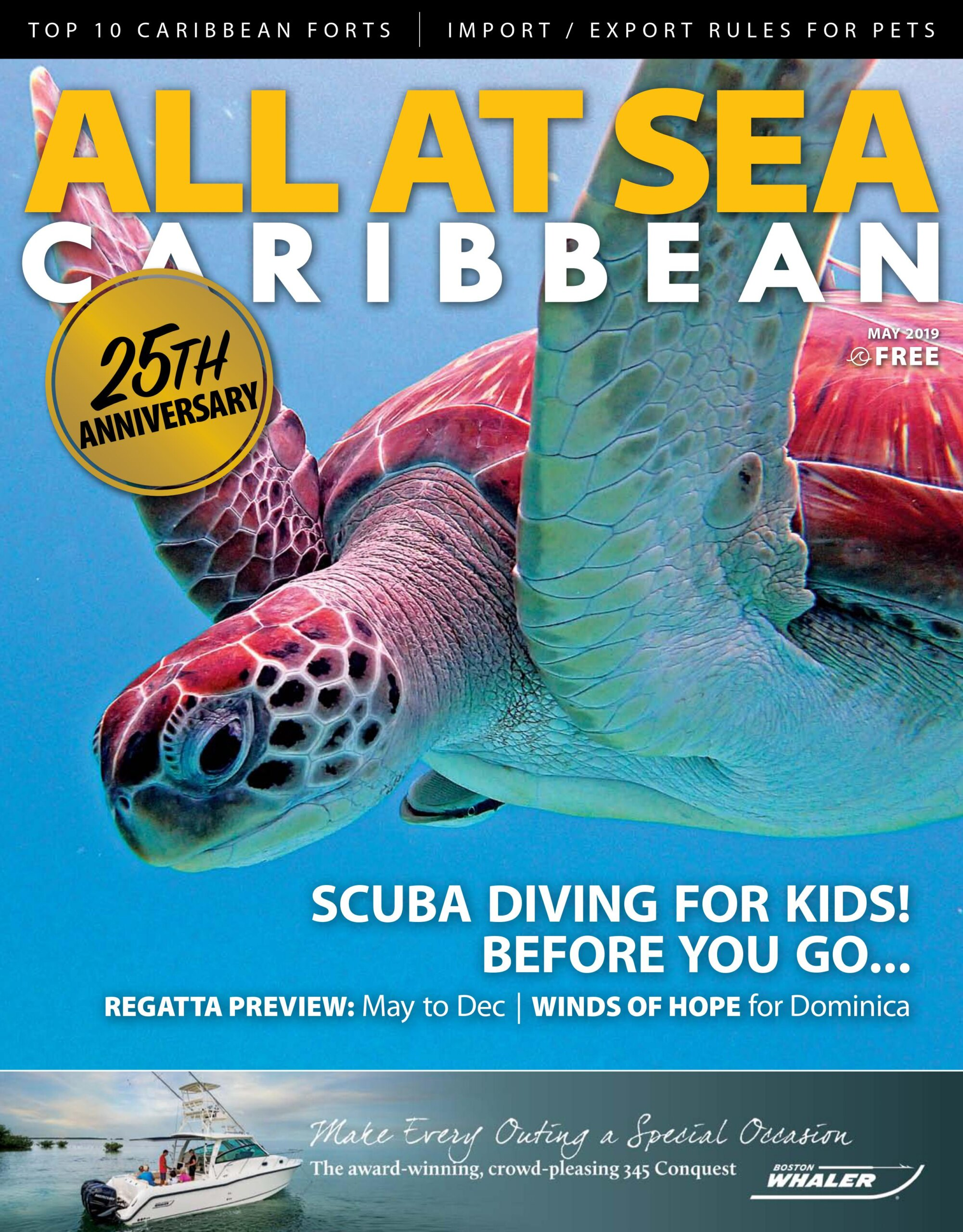 All At Sea - The Caribbean's Waterfront Magazine - May 2019