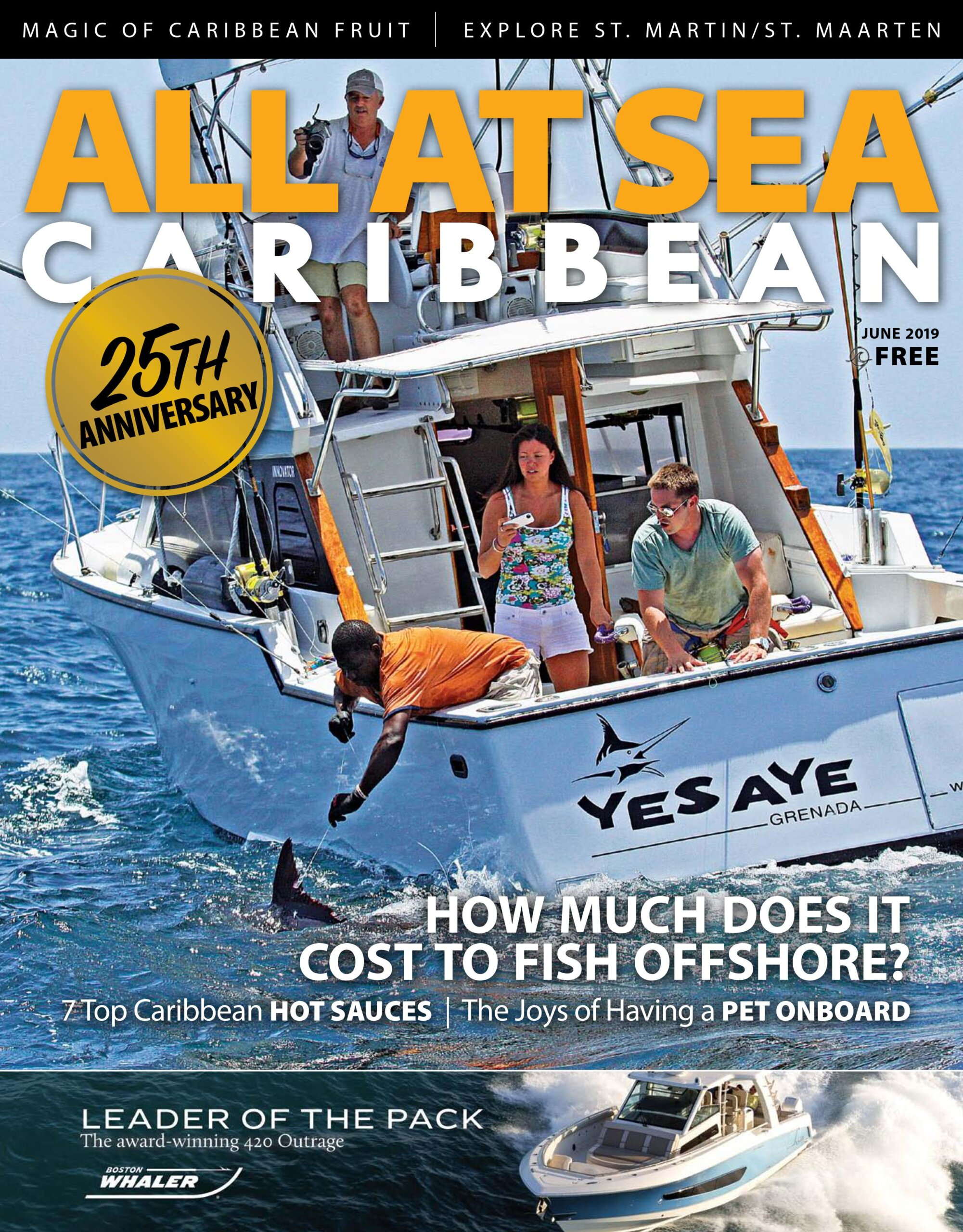 All At Sea - The Caribbean's Waterfront Magazine - June 2019