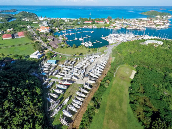 Jolly Harbour Marina and Boatyard on Antigua