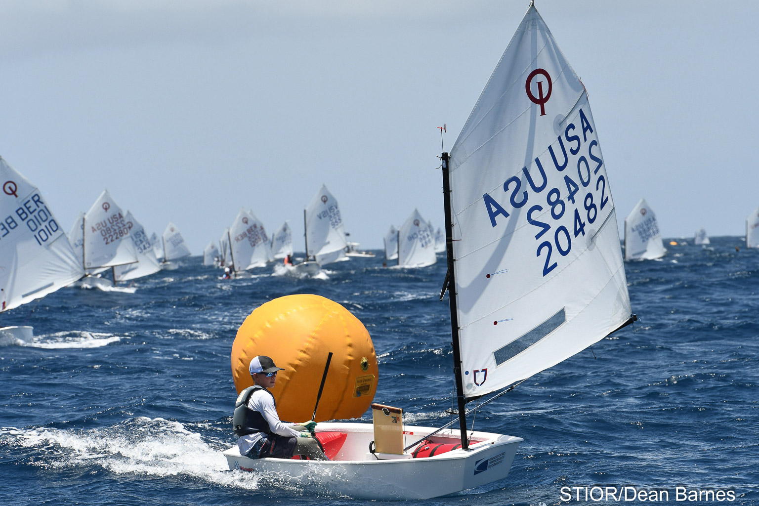 The USA's Griggs Diemar wins the 27th International Optimist Regatta, presented by EMS Virgin Islands. Credit: Dean Barnes
