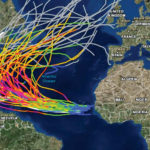 Image Courtesy of NOAA - National Ocean Service: Category 4 and 5 hurricane tracks from 1851-2016 in the East Atlantic ocean basin.