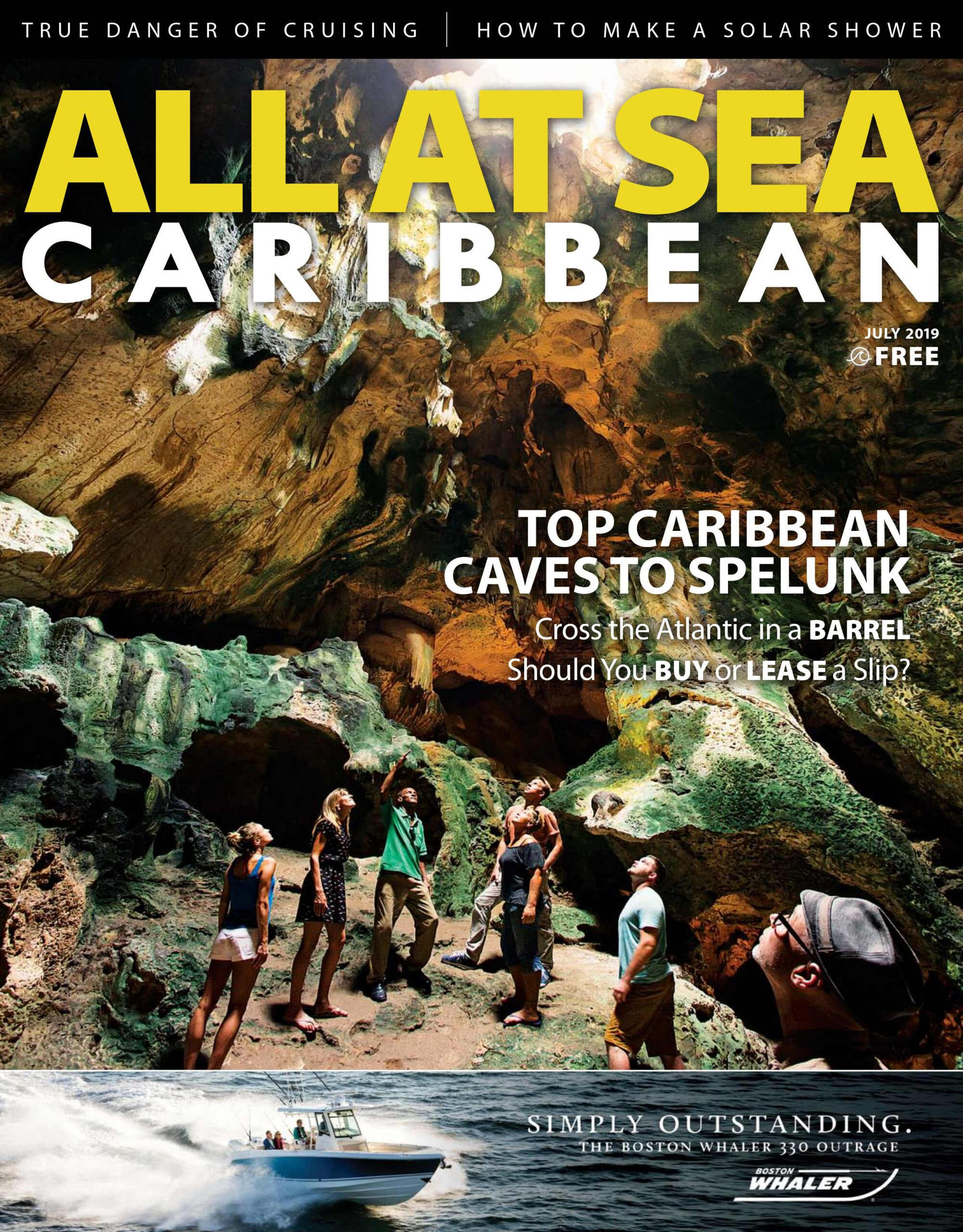 All At Sea - The Caribbean's Waterfront Magazine - July 2019