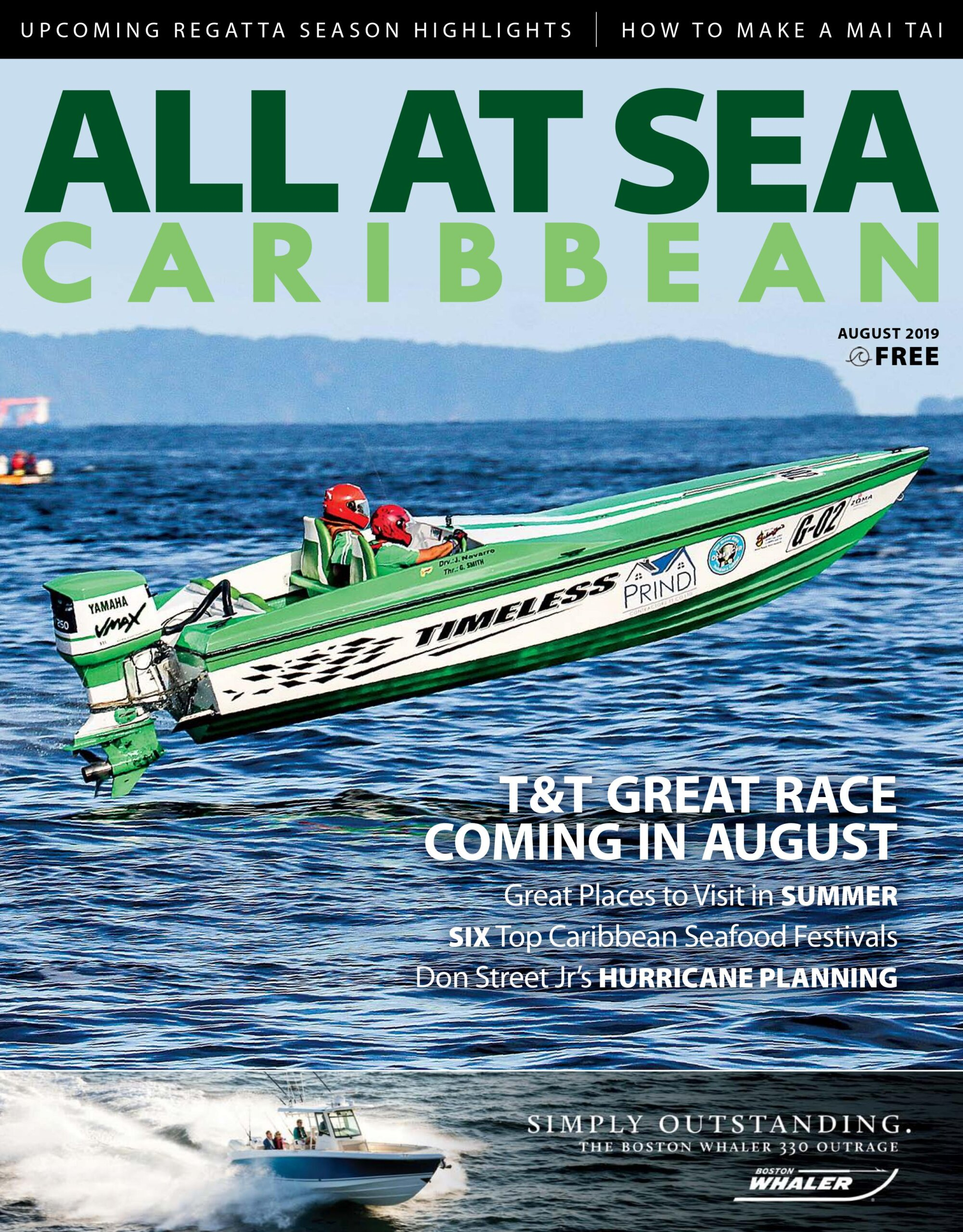 All At Sea - The Caribbean's Waterfront Magazine - August 2019