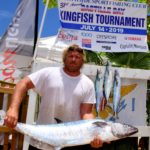 Matthew Bryan wins Largest Kingfish prize at 31st Bastille Day Kingfish Tournament. Credit: Dean Barnes