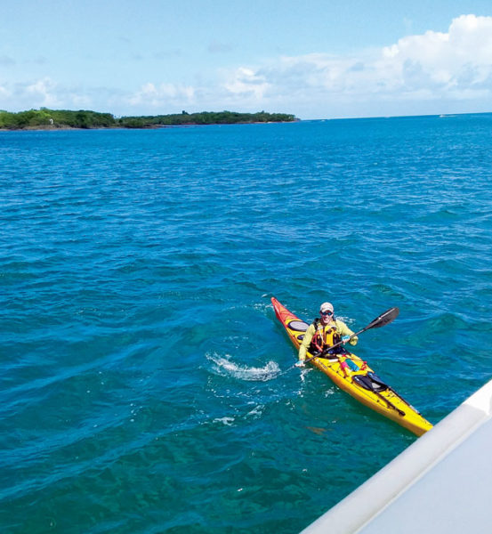 Crossing the St. Lucia Channel by kayak