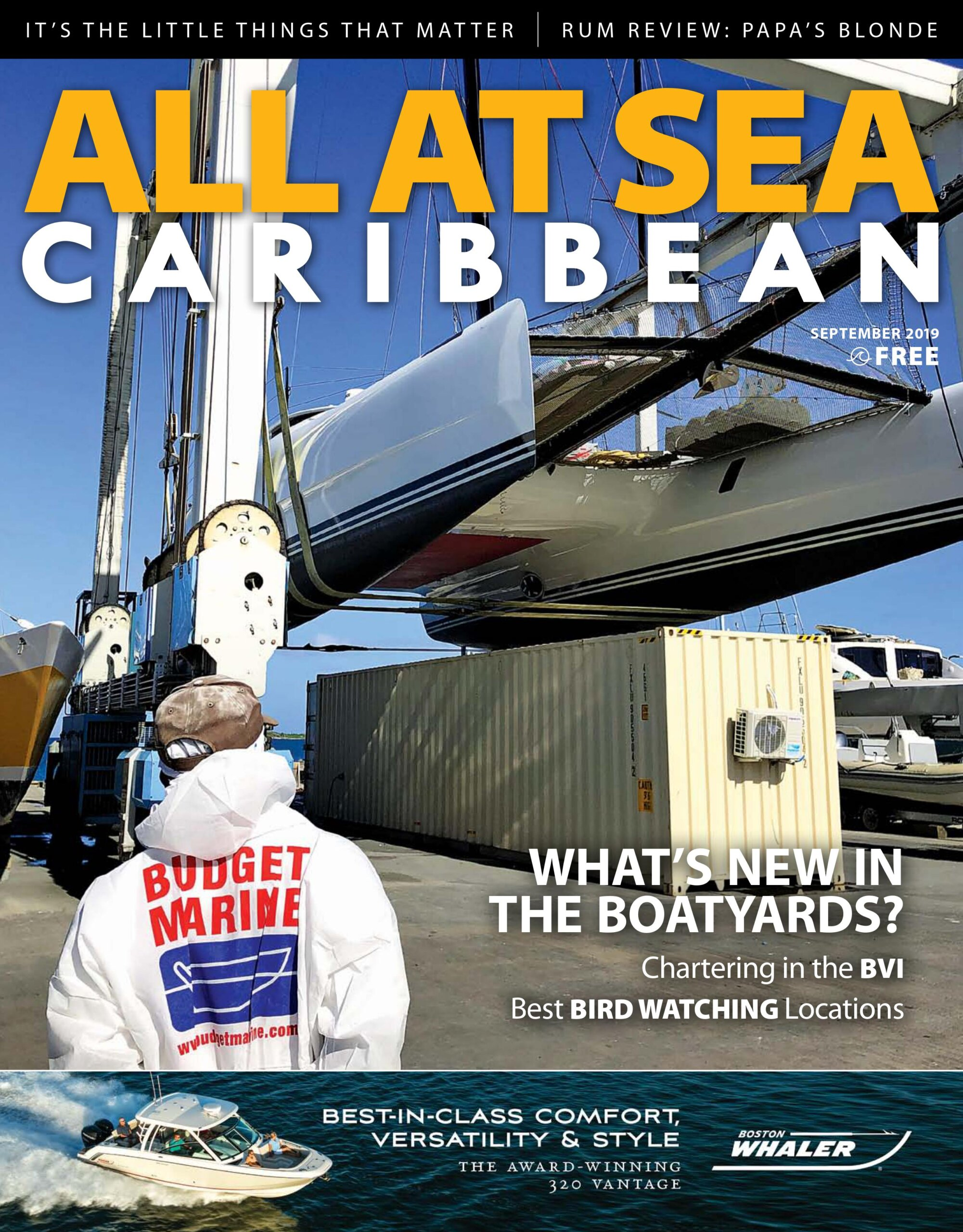 All At Sea - The Caribbean's Waterfront Magazine - September 2019