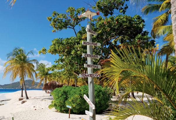 Island directions on Palm Island Grenadines. Compliments Cat Sagitarrius