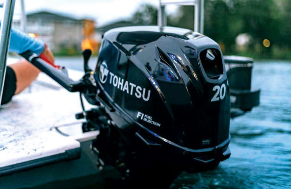 Smaller craft can also benefit from the latest in design and technology and the Tohatsu's newest offerings in its 20hp, 15hp and 9.9hp outboards can deliver those benefits.