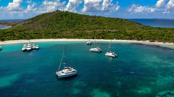 Beautiful anchorage on the island of Culebra. Credit: SailCaribe/Atlas Yachts