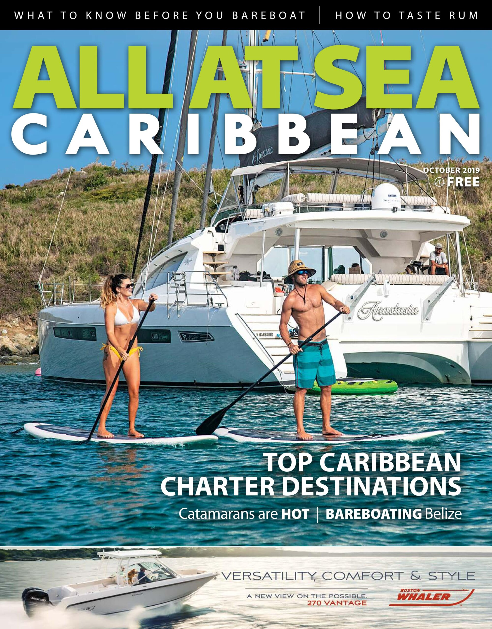 All At Sea - The Caribbean's Waterfront Magazine - October 2019