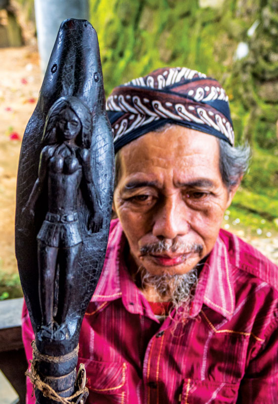 A Dayak Head Keeper in Borneo