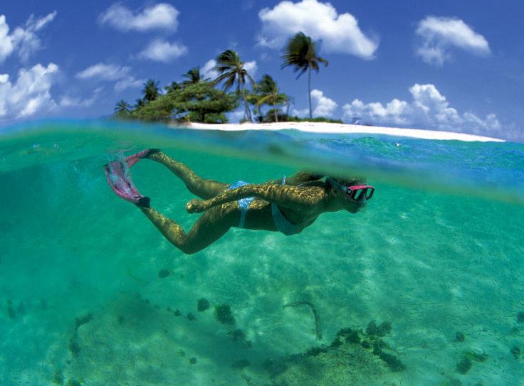 Snorkeling on Sandy Island. Grenada Tourism Authority
