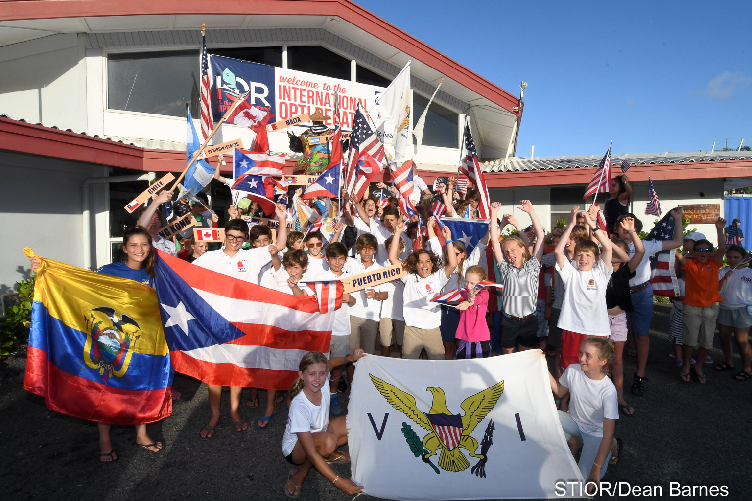 Photo: Some 113 junior sailors from a dozen nations participated in the 2019 IOR. Credit: Dean Barnes.