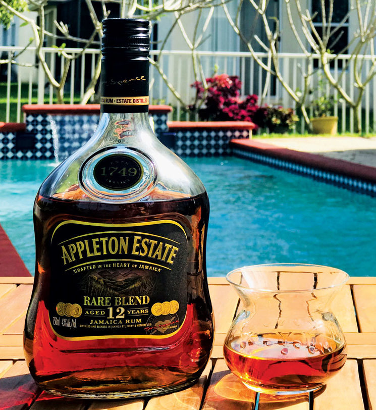 This month we sampled Appleton Estate Rare Blend 12 year old which, judging but the color, looks more like a finer sipping rum.