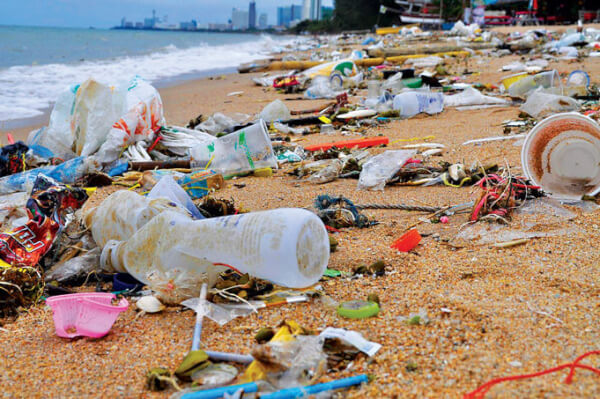 About 22,000 tons of Plastic per day, escapes into the waters around coastal nations, catches a ride on ocean currents, and makes its way to the most remote spots on the planet