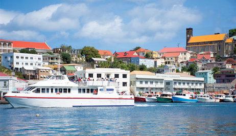 Grenada Ferry Osprey Lines leaving Grenada