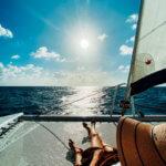 Relaxing sun filled sail