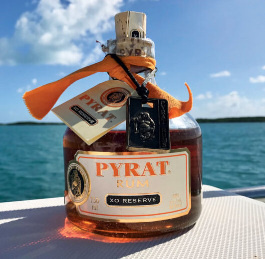 Three surveyed boats later we are finally back on the water and Pyrat Rum XO Reserve was the very first item we put on board.