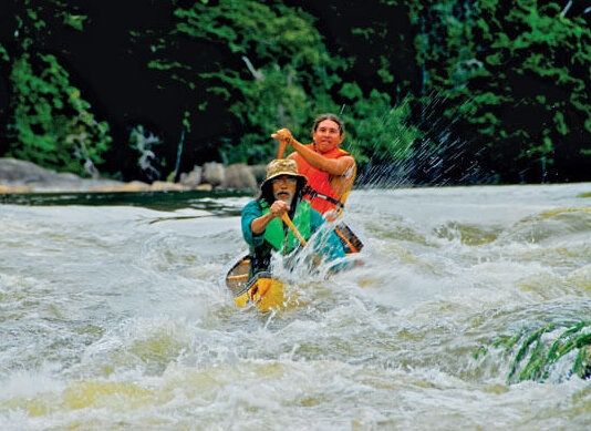 Running the rapids, Guyana
