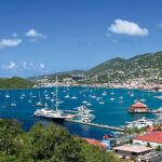 USVI Charter Yacht Fleet - Several in Charlotte Amalie. Photo: Phil Blake