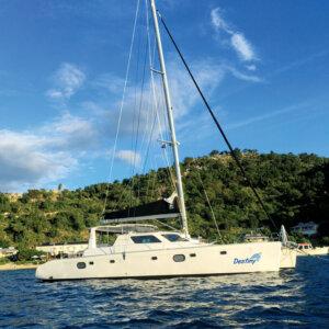 Virgin Yacht Charters - Destiny on Cooper Island Mooring