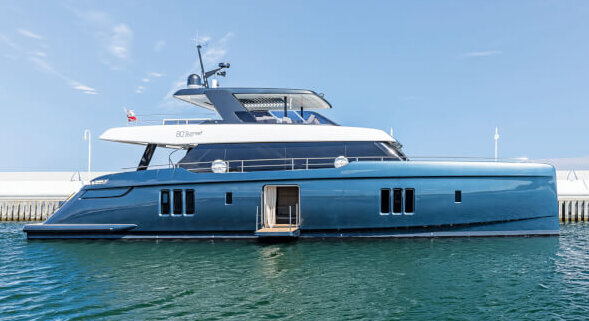 Tennis star Rafael Nadal takes delivery of a new Sunreef 80 luxury catamaran.