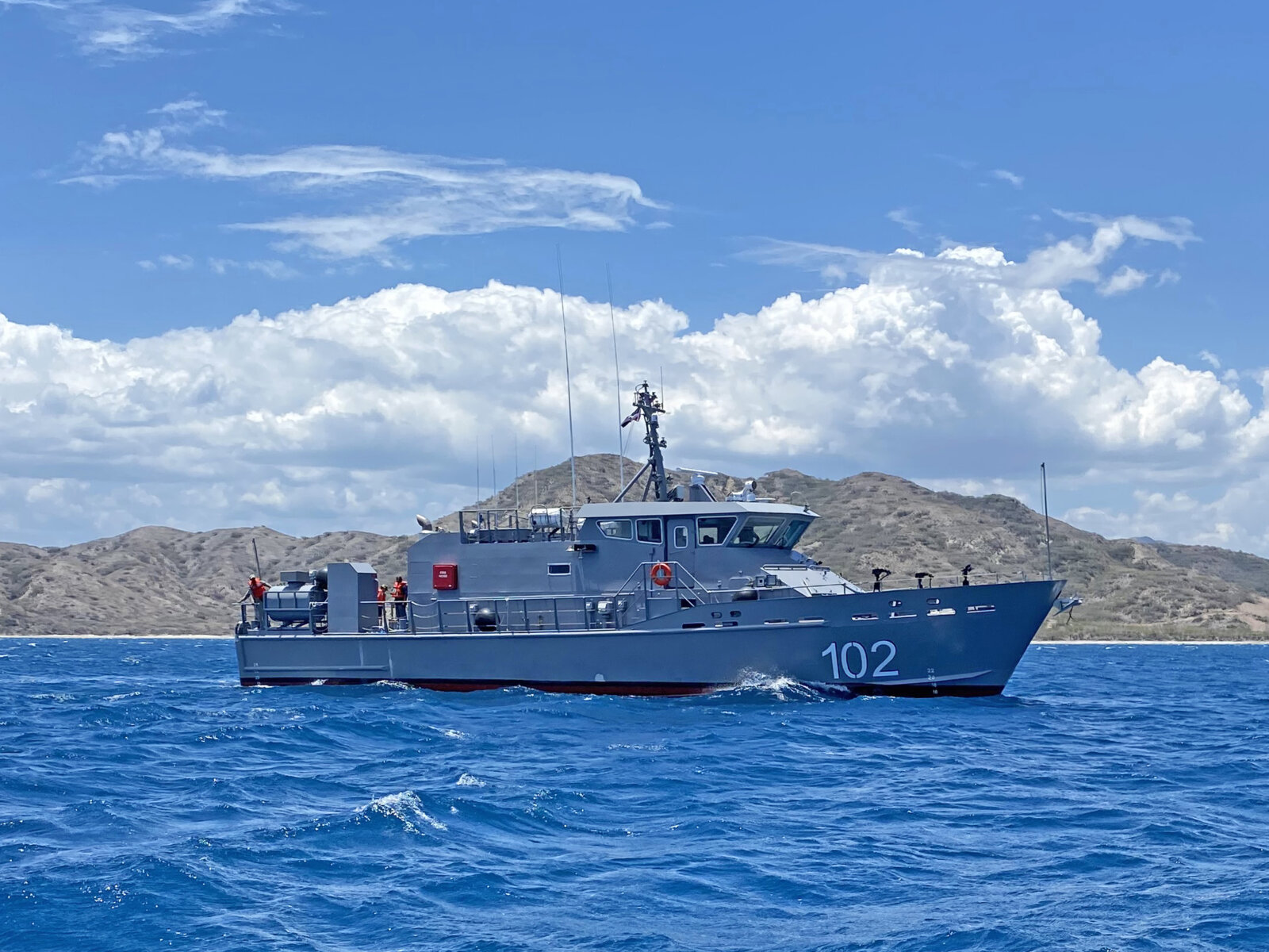 Shipbuilder Metal Shark has delivered an 85' x 19.5' welded aluminum Near Coastal Patrol Vessel (NCPV) to the Dominican Republic's Navy.