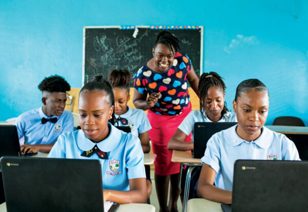 BVI ChromeBooks Classroom Bitter End Yacht Club donation