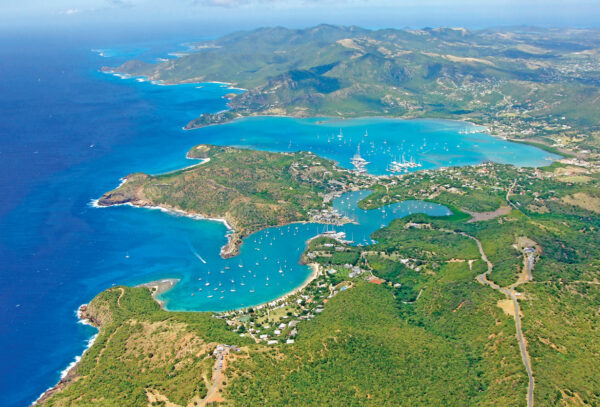 English Harbour, Antigua traditionally has been one of the favored hurricane holes