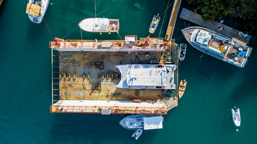 Subbase Drydock for boat repair in USVI