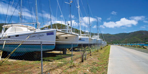 Nanny Cay boatyard for boat repair in BVI