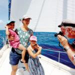 Fatty's daughter Roma with his grandkids, Sokú and Tessa