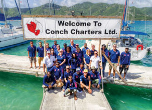 Conch Charter BVI team