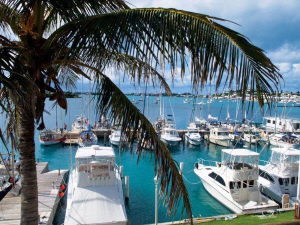 Caribbean Fall Cruising Rally Update - NARC Dinghy Dock in Bermuda. Credit David Lyman